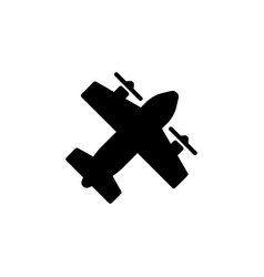 Aeroplane icon isolated on white background vector