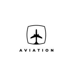 aviation logo design templateairplane elem vector image
