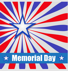 background america to memorial day vector image