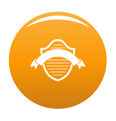 badge premium icon orange vector image