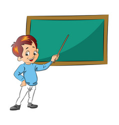 boy teaching vector image