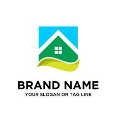 Building logo design vector