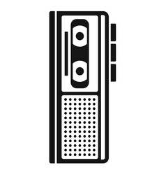 cassette dictaphone icon simple style vector image