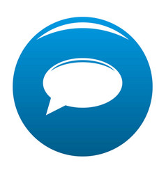 chat icon blue vector image