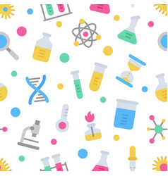 chemistry science laboratory colorful vector image