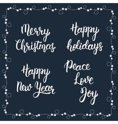Christmas calligraphy phrases Merry christmas vector