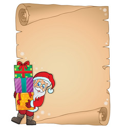 Christmas thematic parchment 6 vector