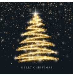 Christmas tree from light background vector image