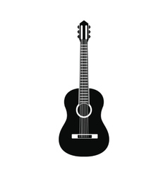 Classic guitar icon simple style vector image