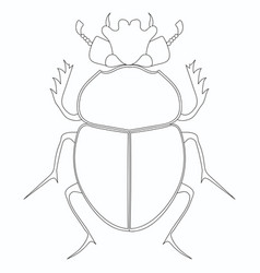 Coloring egyptian scarab beetle vector