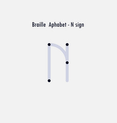creative english version of braille alphabet vector image