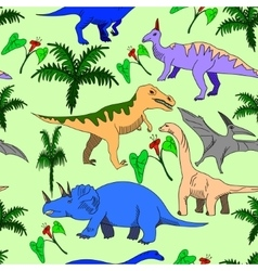 Dinosaur seamless vector