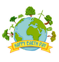 earth day concept for safe and green globe vector image