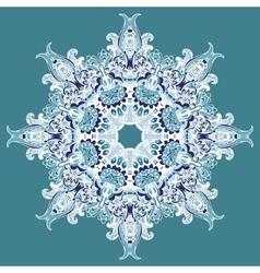 Elegant Lace Winter Snowflake vector image