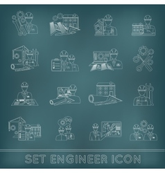 Engineer Icon Outline vector image