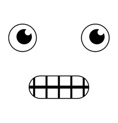 face emoticon funny icon vector image