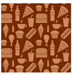 Fastfood pattern brown2 vector