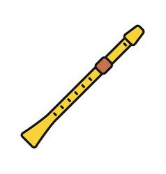 Flute color icon vector