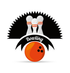 fun bowling sport play game vector image