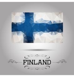 geometric polygonal European Union flag vector image