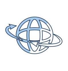 Global around connection internet web icon outline vector