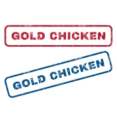 Gold Chicken Rubber Stamps vector