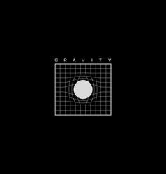Gravity t-shirt and apparel design with grid vector