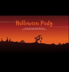 Halloween party celebration background design vector