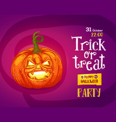 Halloween trick or treat poster vector