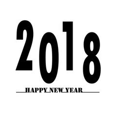 happy new year 2018 on white background happy new vector image vector image