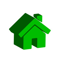 Home symbol flat isometric icon or logo 3d style vector