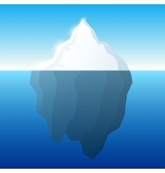 Iceberg and background vector