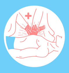 Icon concept of the first medical patient vector