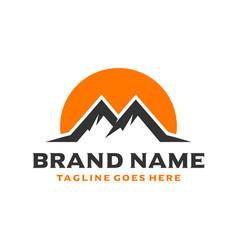 Initial logo m shaped mountain vector