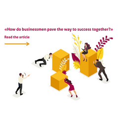 isometric mentorship and business success vector image