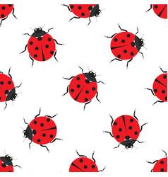 ladybug seamless pattern design vector image