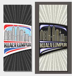 layouts for kuala lumpur vector image