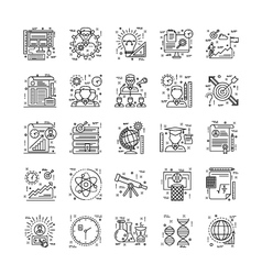 Line Icons With Detail 3 vector image