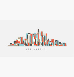 los angeles downtown geometric art vector image
