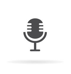 Microphone icon for web business finance and vector
