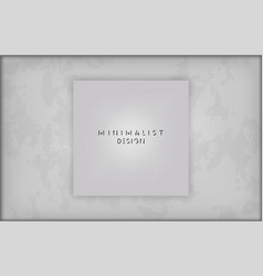 mockup square picture on old wall vector image