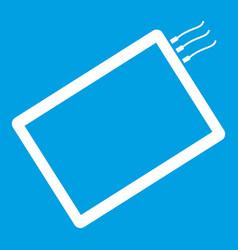 One phone icon white vector