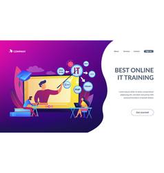 online it courses concept landing page vector image