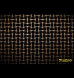 pattern of brass metal grid techno vector image