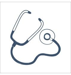 Phonendoscope stethoscope isolated on white vector