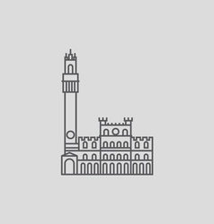 Piazza Del Campo Siena vector