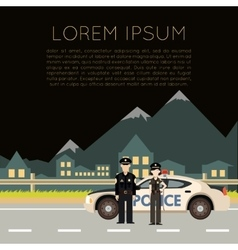 Police on the road banner5 vector