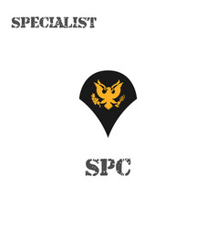 Realistic icon a specialist soldier of vector