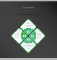 Rectangle presentation neon green vector