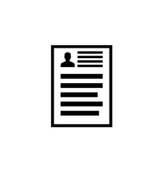 resume document icon application report register vector image